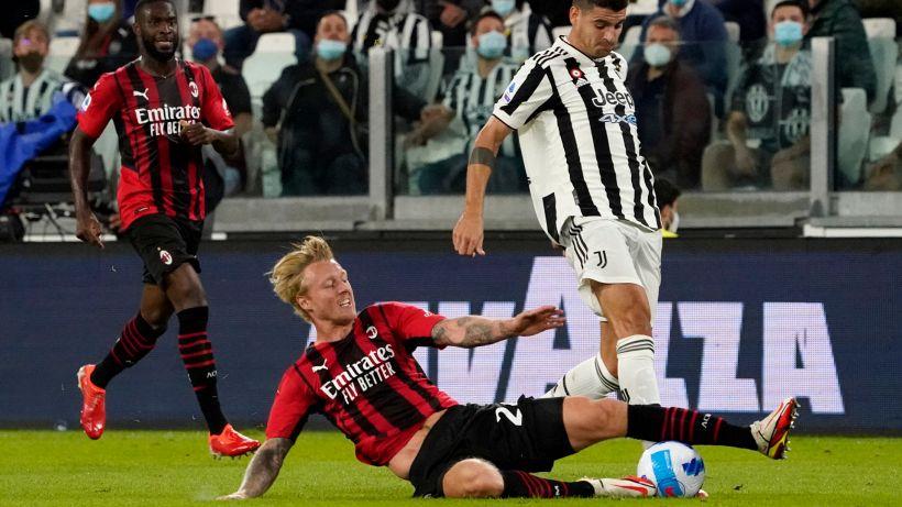 Juventus-Milan, Kjaer finisce ko: infortunio muscolare per il danese