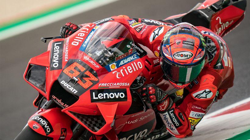 Motogp, dominio Ducati a Misano: pole per Bagnaia, 2° Miller