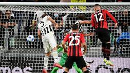 La Juve si blocca di nuovo: Rebic salva il Milan allo Stadium