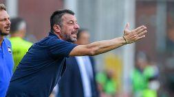 """Sampdoria, D'Aversa vuole una reazione: """"Juve appaiata a noi ma non sarà più semplice"""""""