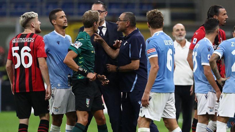 """Milan-Lazio, furia Sarri dopo la squalifica: """"Chiamati i legali"""""""
