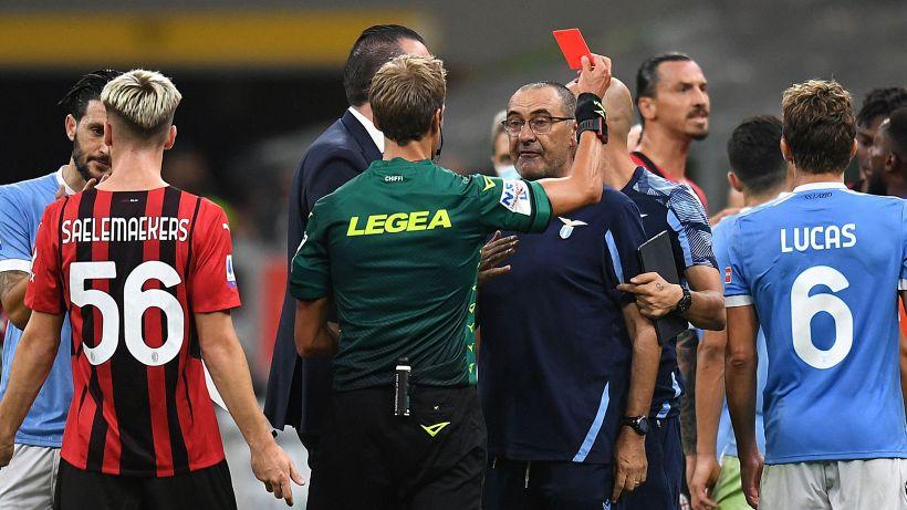 Rosso in Milan-Lazio: due giornate a Sarri