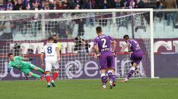Fiorentina, trionfo col Cagliari e punizione per Vlahovic