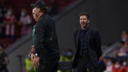"""Atletico Madrid, Simeone non stringe la mano a Klopp: """"È una forzatura"""""""