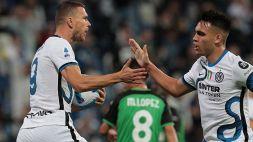 Dzeko e Lautaro la ribaltano: l'Inter espugna il Mapei Stadium