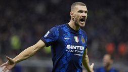 L'Inter si gode lo strabiliante Dzeko: è meglio di Lukaku