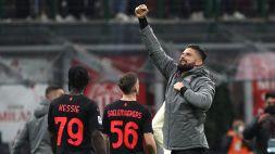 """Milan, Giroud: """"Non tutto perfetto, ma contano i 3 punti"""""""