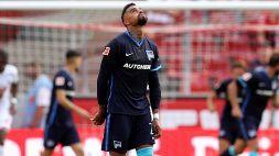 Nervi tesi all'Hertha Berlino: lite tra Boateng e il tecnico Dardai