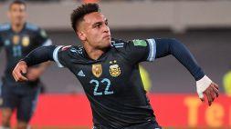 L'Argentina vola con Lautaro: gran gol contro il Perù