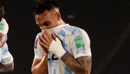 Lautaro Martinez in lacrime in panchina: dietro la tensione