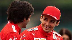 F1: Leclerc punta in alto, Sainz esalta la tattica della Ferrari