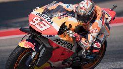 MotoGp, Austin: Marc Marquez fa paura, bene la Ducati. Rossi dietro