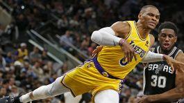 LeBron non c'è, ci pensa Westbrook: Lakers in risalita