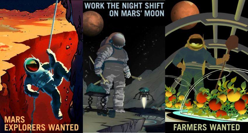 La Nasa vuole te! Gli splendidi retro poster per Marte