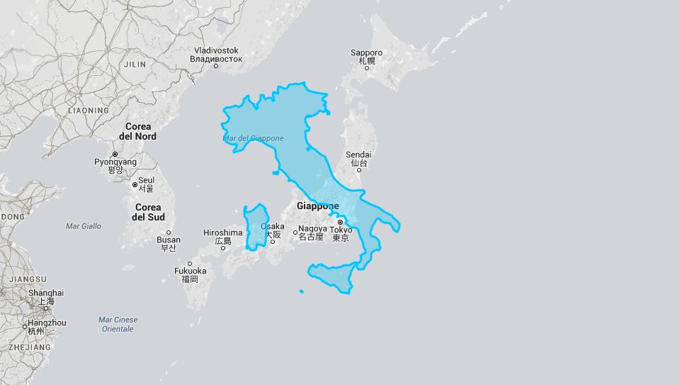 Cartina Italia Giappone.L Italia A Confronto Con Il Giappone L Italia A Confronto Con Gli Stati Uniti Supereva