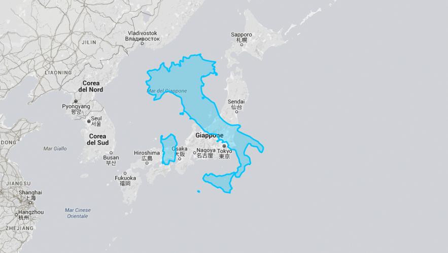Cartina Giappone In Italiano.L Italia A Confronto Con Il Giappone L Italia A Confronto Con Il Giappone Supereva
