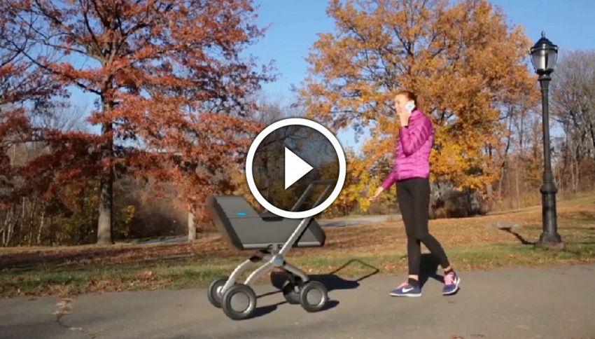 SmartBe il passeggino che ti segue mentre fai jogging