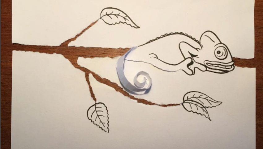 Disegni puliti e carta strappata, le opere di questo artista sono geniali