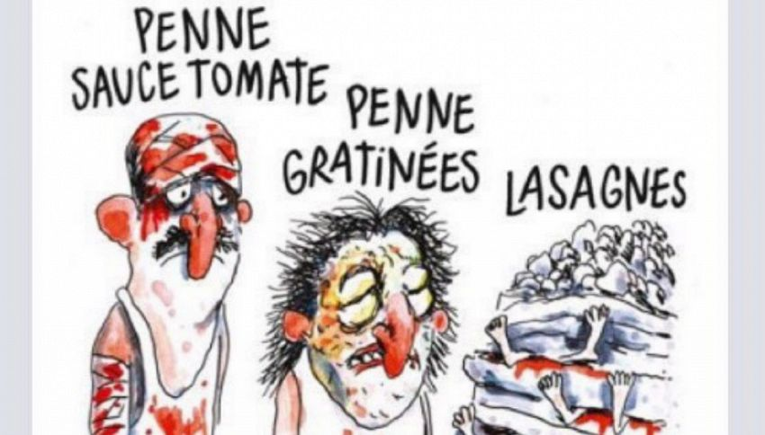 Il Comune di Amatrice ha querelato Charlie Hebdo per la vignetta sul terremoto