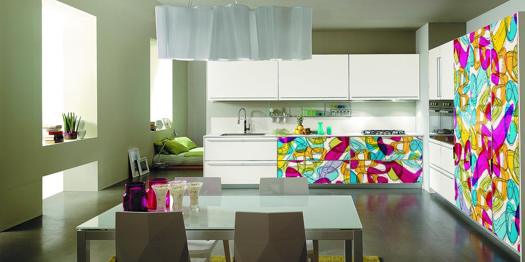 Decorare le ante della cucina con i propri disegni - Stencil per ...