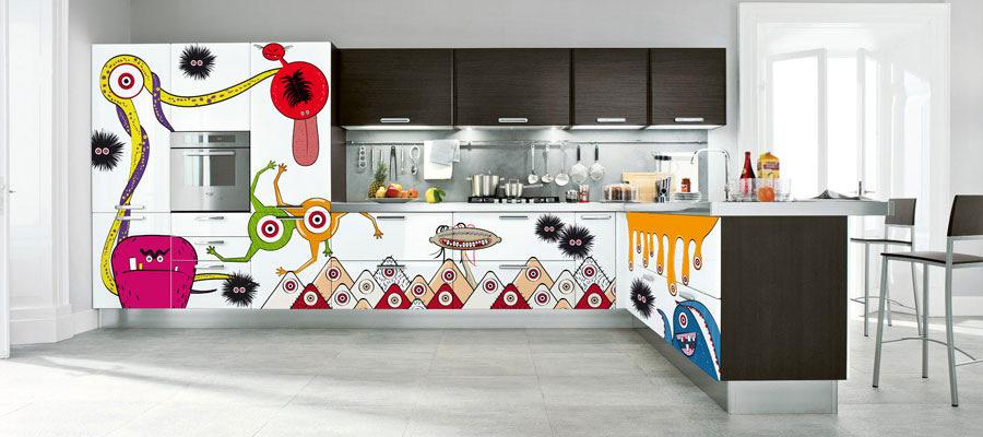 Decorare le ante della cucina con gli sticker - Stencil per decorare ...