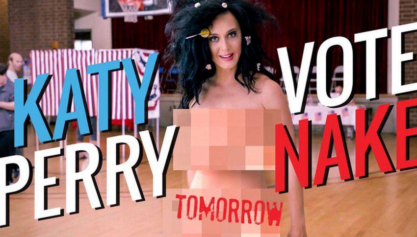 Katy Perry nuda per sostenere Hillary Clinton