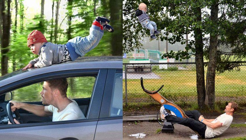 Voi riuscireste a scattare queste foto con vostro figlio?