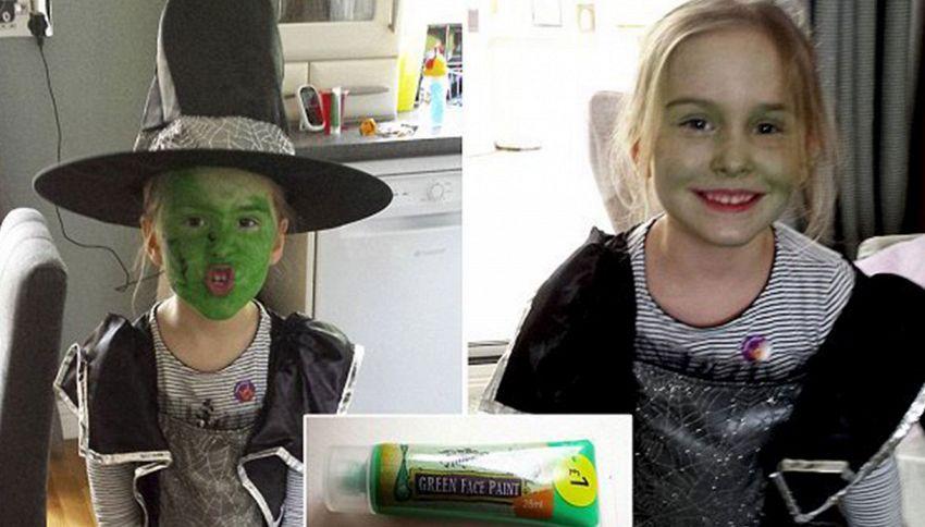 Trucca la figlia con un make-up economico e il suo viso rimane verde