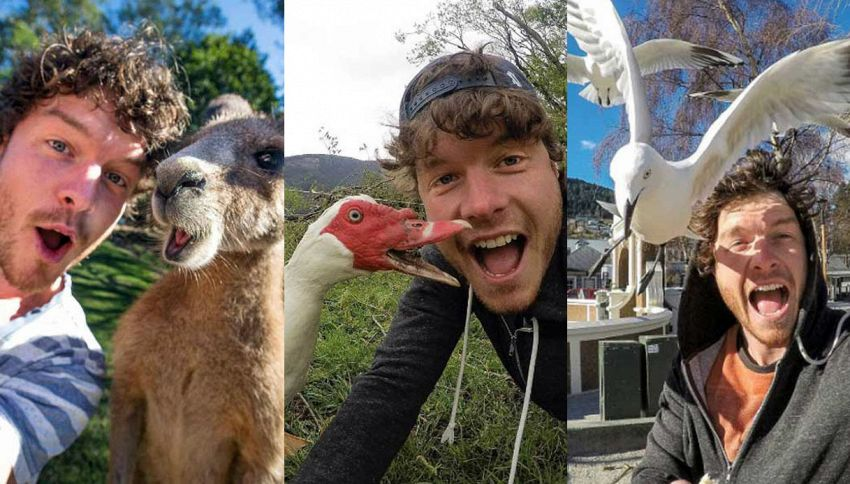 Allan Dixon, il giramondo che si fa i selfie solo con animali