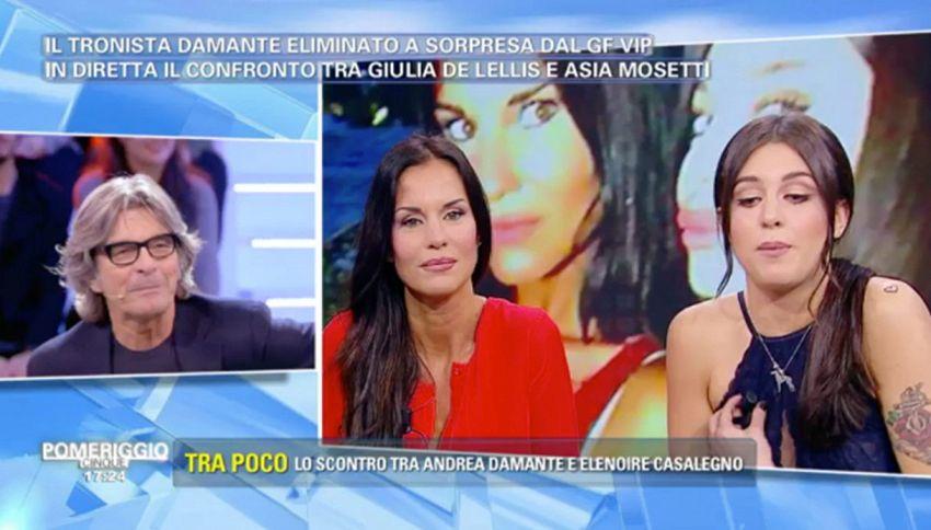 Pomeriggio 5: lite tra Barbara D'Urso e Antonella Mosetti per fuori onda