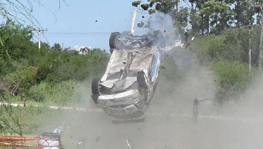 Spaventoso incidente durante il rally per l'ex campione di tennis