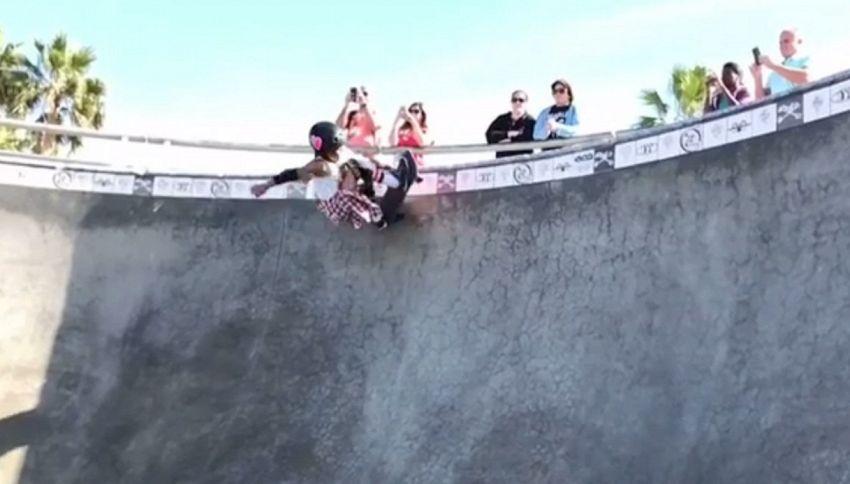Baby prodigio fa un giro da 540° sullo skate. Ha solo 8 anni!