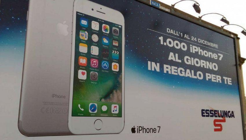 Esselunga regala mille iPhone 7 al giorno