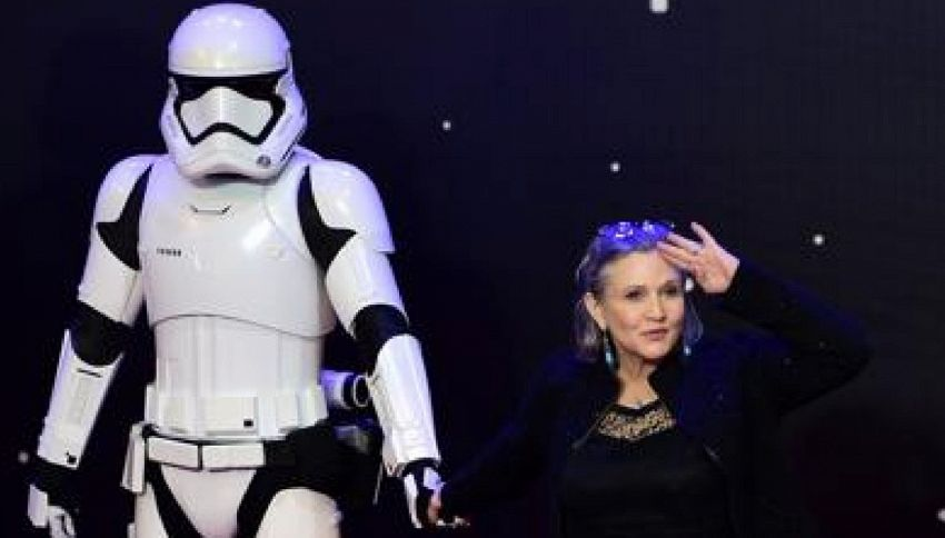 "Carrie Fisher sarà di nuovo la principessa Leila in ""Star Wars"""