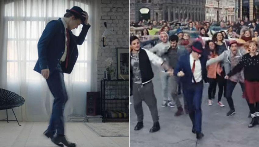 Gambe snodate e swing: ecco chi è il ballerino dello spot record