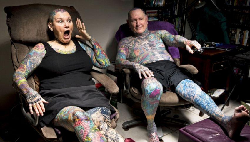 Ecco i due pensionati più tatuati al mondo