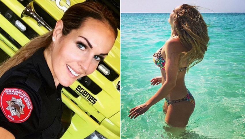 La sexy vigile del fuoco star su Instagram con 50mila follower
