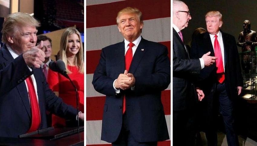 Ecco perché Trump porta la cravatta lunga (con lo scotch)