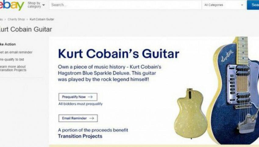 La chitarra di Kurt Cobain finisce all'asta su eBay