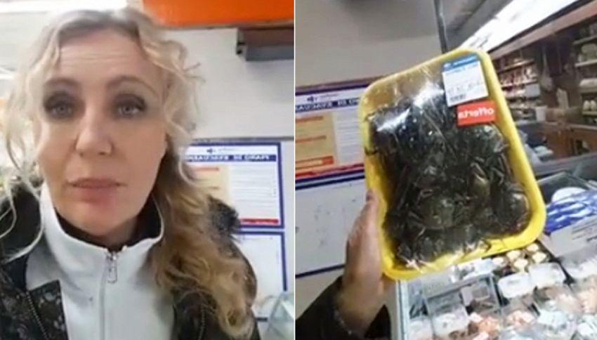 Granchi vivi al supermercato: Licia Colò li libera in mare