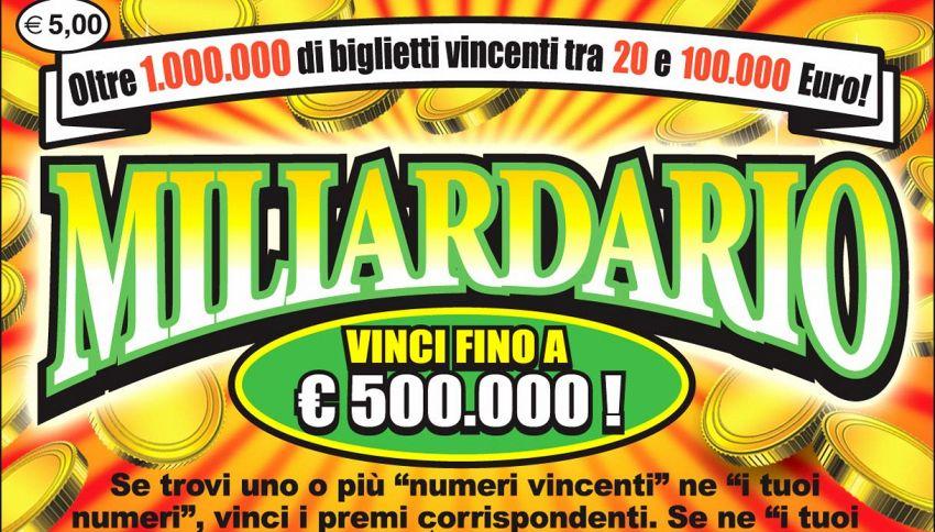 Compra un 'Gratta e Vinci' e intasca cifra da record
