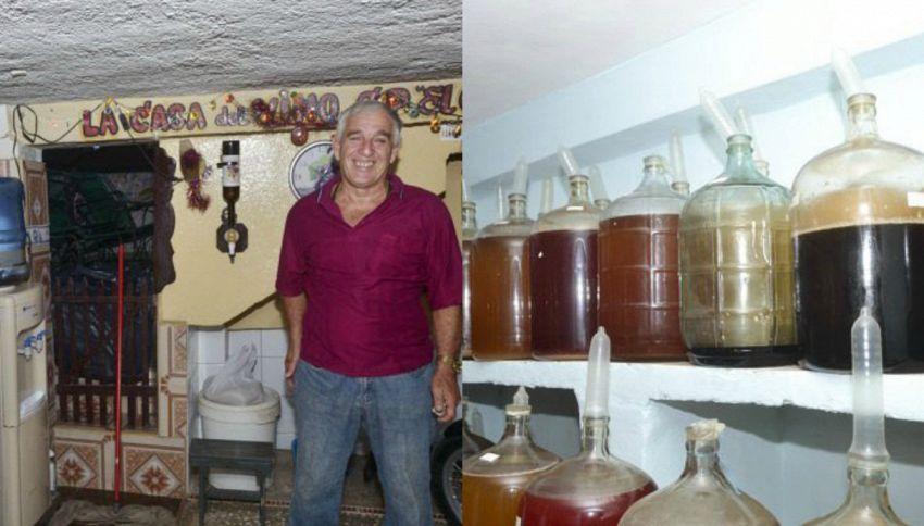 L'uomo che usa i preservativi per produrre il vino