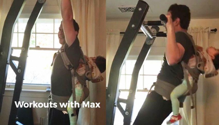 Il duro allenamento di Zuckerberg con la figlia di 16 mesi