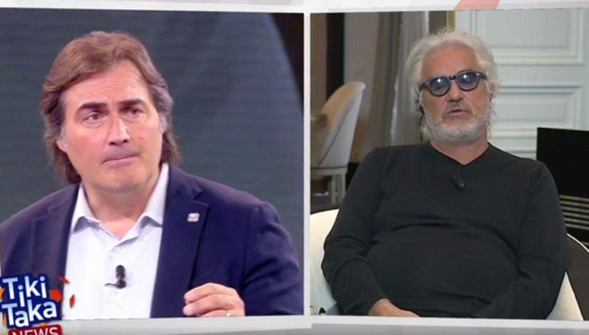 Stavolta Briatore se la prende con Pardo in diretta tv