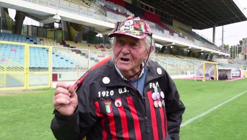 Nonno Ciccio, l'ultras del Foggia più vecchio d'Italia