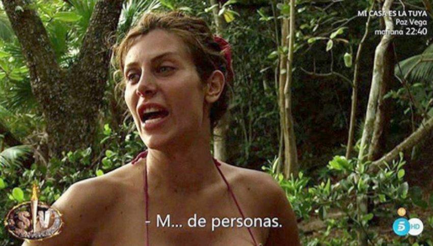 Paola Caruso in lacrime e bullizzata all'Isola spagnola
