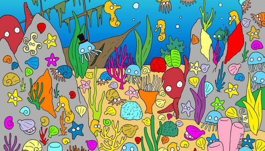 Trova il pesce in fondo al mare: il rompicapo irresistibile