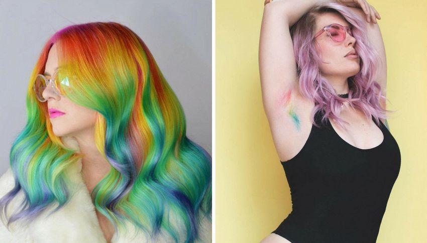 Dai capelli alle ascelle, va di moda l'arcobaleno