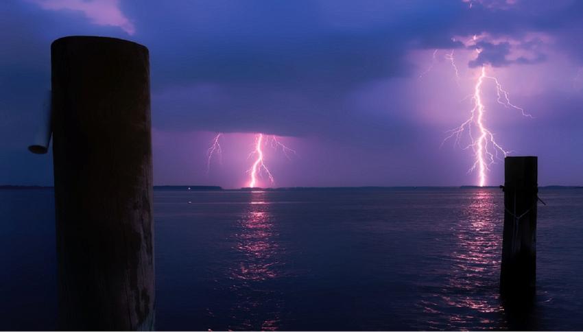 I fulmini in mare sono più potenti