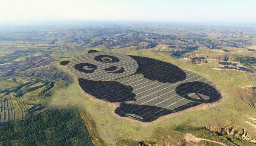 In Cina nasce il primo impianto fotovoltaico a forma di panda